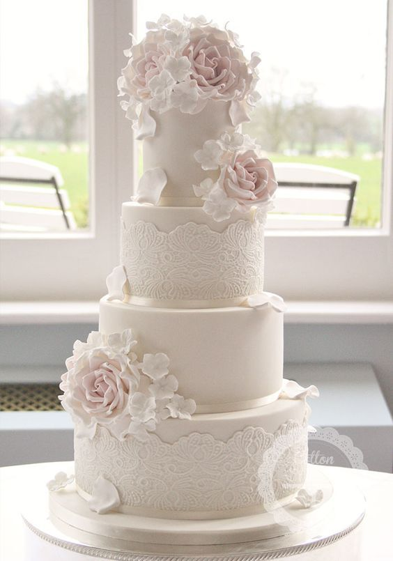 Featured Cake: Cotton & Crumbs; Wedding cake idea.  – Lindas tortas de novios