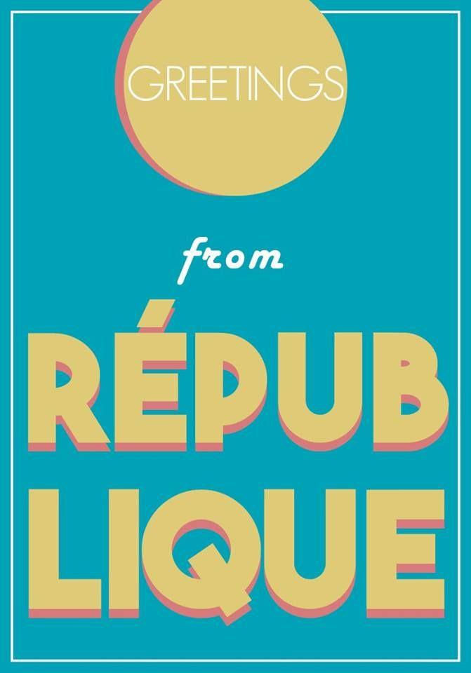 carte postale quartiers Paris postal card République