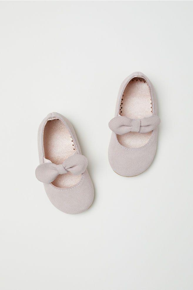 Suede Ballet Flats - Powder pink - Kids