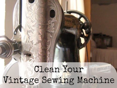 67 best sewing machine images on pinterest stitching sewing clean your vintage sewing machine our handmade home fandeluxe Gallery