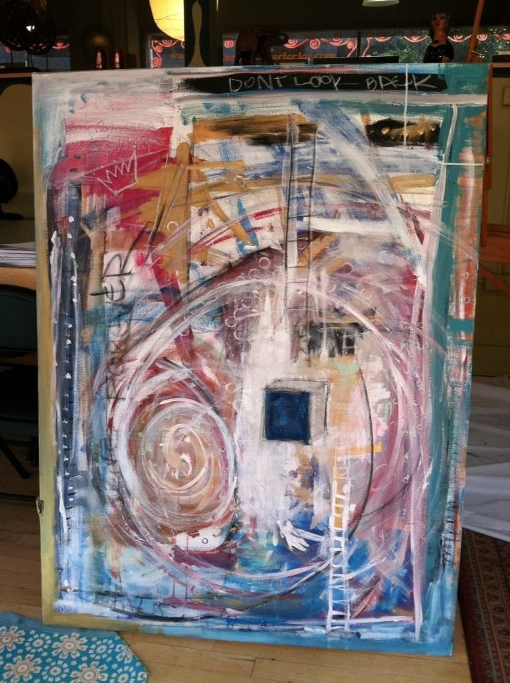 """Don't Look Back"" by Juliette Ricci -Mixed Media on Canvas www.juliettericci.com"