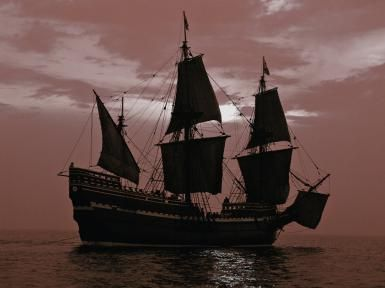 The Pilgrims' Religion: A Faith That Inspired Thanksgiving: <i>Mayflower II</i>, replica of the original ship <i>Mayflower</i>, which sailed in 1620 bringing the first Puritan Separatist pilgrims to Plymouth, Massachusetts.