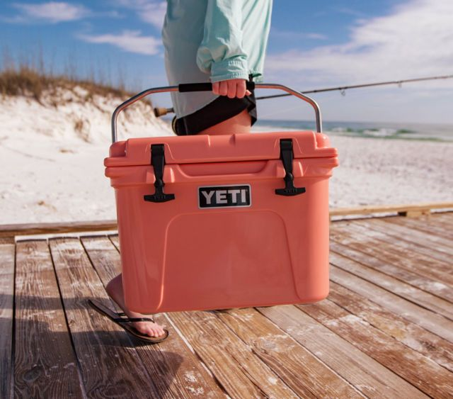 Limited Edition Coral Colored Yeti Love This Yeti Cooler Yeti Coolers Yeti Roadie