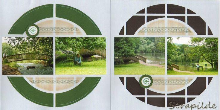 Scrapilde-dubbele pagina met uitsnijwerk, binnenkant