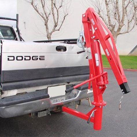 XtremepowerUS 500 Lb Pickup Truck Hydraulic Pwc Dock Jib Engine Hoist Crane Hitch Mount Lift