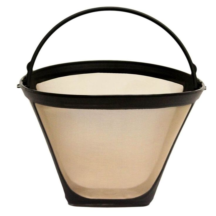 GoldTone Reusable #4, 10-12 Cup Cone Style Replacement Coffee Filter, Fits Black+Decker Coffee Makers and Brewers, Gold