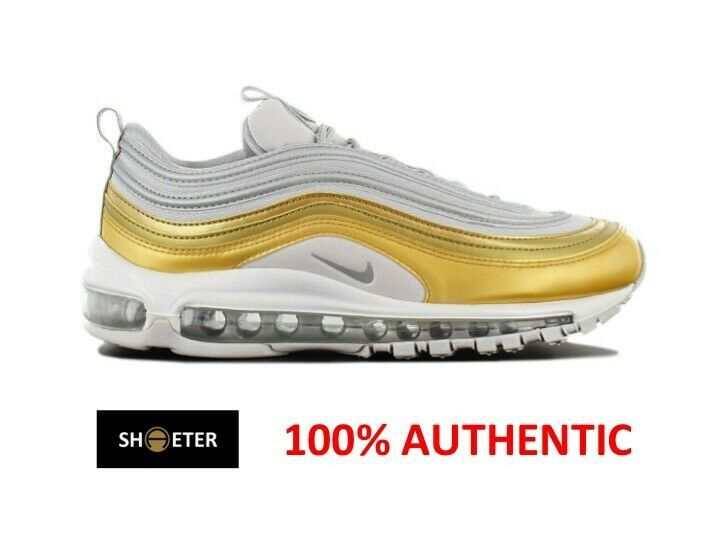 finest selection f1e10 468d3 Nike Tennis · Nike Basketball Shoes · Nike Air Max 97 Plus Vast Grey Silver  Metallic Gold Women s AQ4137-001 Sz 5