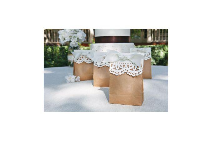 Unique Lace Effect Favour Bag by Wedding Dayz Dresses