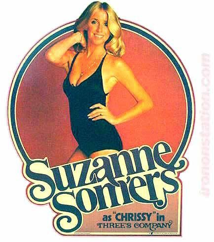 1970s SUZANNE SOMERS 3 as Chrissy Three's Company 70s Vintage TV Iron  – Irononstation, vintage 70s t-shirt iron-ons