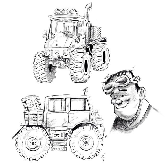 unimog coloring pages | Frankie's Unimog. I'm working on a set of Halloween Racers ...