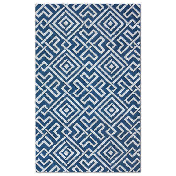 The Salon Blue Zigzag Collection | American Signature Furniture