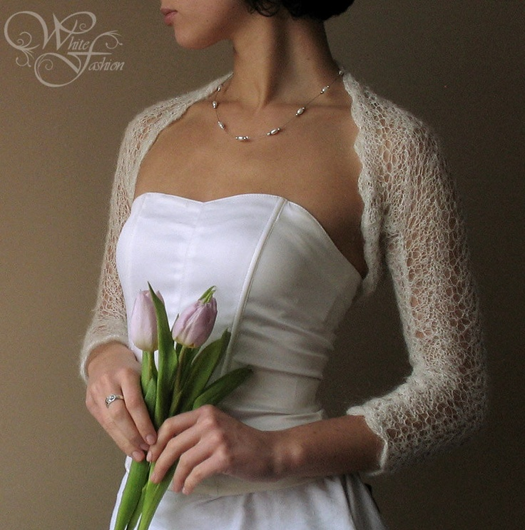 Bridal Shrug Wedding Bolero Light As A Cloud By Whitefashion 72 00 Via Etsy