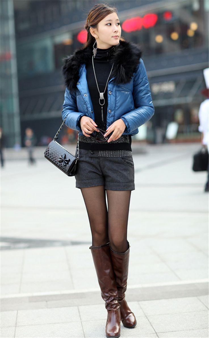 2014-Autumn-Fashion-Women-s-Rhinestone-Cuff-Straight-Slim-Woolen-Short-Pants-Ladies-Casual-Winter-High.jpg (800×1292)