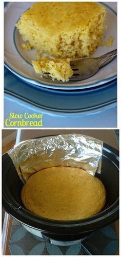 How to Make Cornbread in the Slow Cooker from 365 Days of Slow Cooking; using your slow cooker to bake the cornbread will keep your kitchen cool and I bet your family will enjoy this slow cooker cornbread any time of year!   [featured on SlowCookerFromScratch.com]