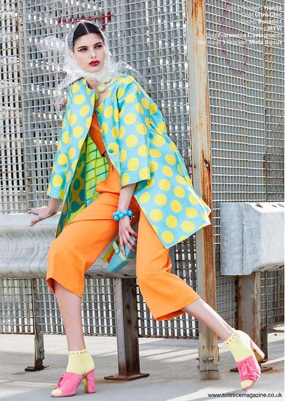 #Hanitapress #SS17 #madeinitaly  La collezione Hanita Spring Summer 2017 di scena in U.K 🇬🇧 per Solstice Magazine, noto #fashionmagazine Londinese 💂