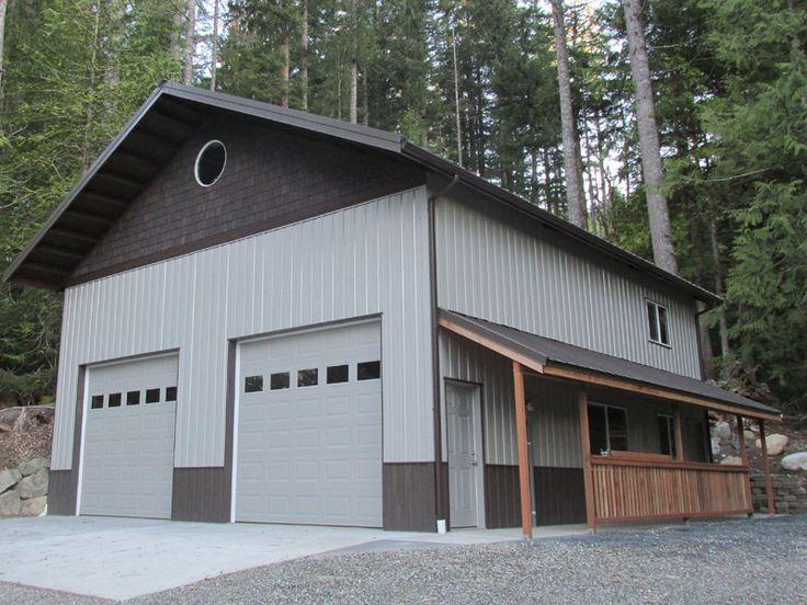 96 best garages images on pinterest garage builders for Carport shop combo