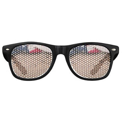 Vintage American Flag Border Retro Sunglasses - rustic gifts ideas customize personalize