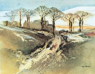 One Pink Goose: Watercolour Trees and John Blockley