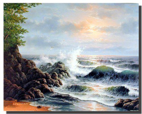 Ocean Crashing Waves Surf on Rock Scenic Landscape Wall D... https://www.amazon.com/dp/B008CMKBMU/ref=cm_sw_r_pi_dp_x_iXm6xb3JTS8PH