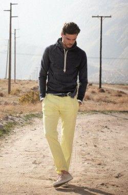 Love the primrose yellow trousers