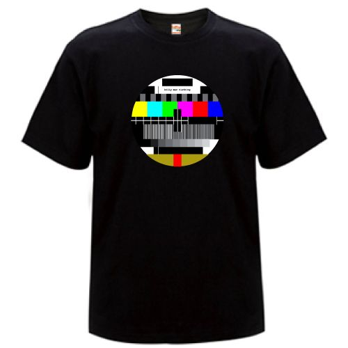 Christmas at #htfstyle. Men's test pattern black t-shirt. Visit www.hardtofind.com.au for more fabulous and affordable gifts for men. #fashion #giftsfordad #dad #gift #him #boyfriend Father's Day