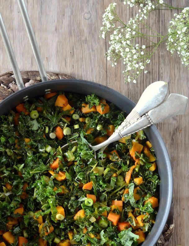 efterårssalat salat efterår grønkål græskar efterår salat opskrift