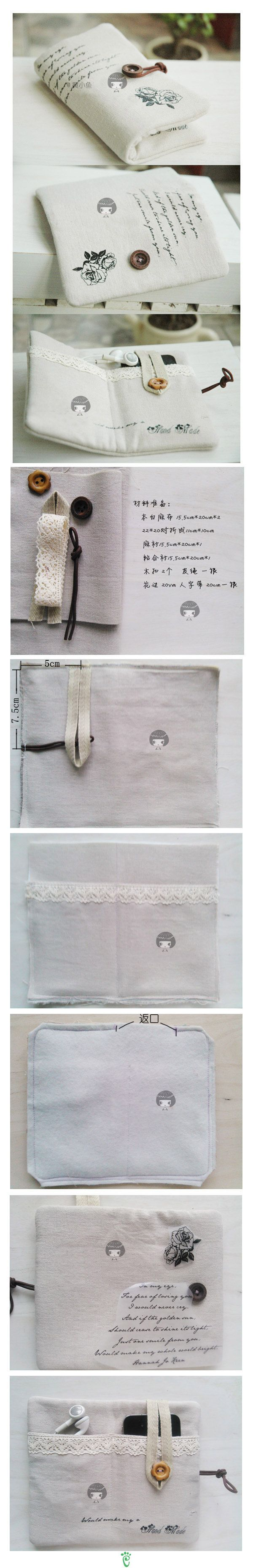 Folding pocket pouch for ipod or iphone and ear buds