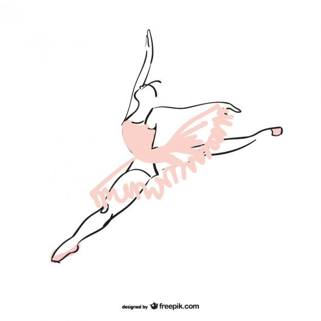Ballet Dancer Free Vector. More Free Vector Graphics, www.123freevectors.com