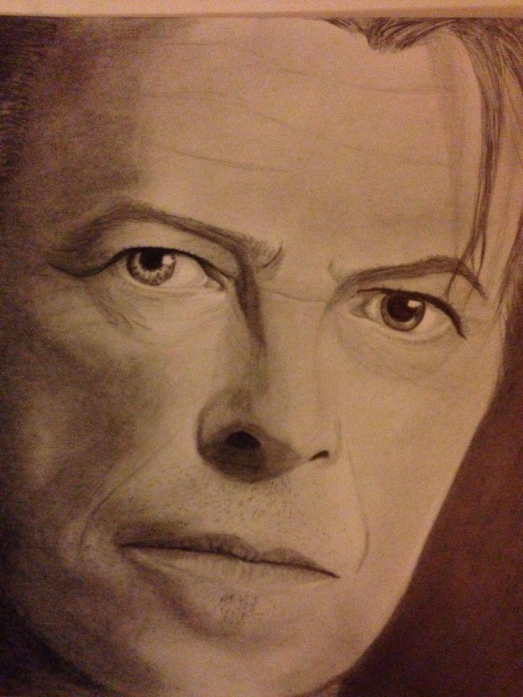 Dawid Bowie-portrait drawing, dorottyaart.com
