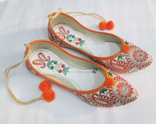 indian-Punjabi-jutti-Indian-Shoes-Flip-Flop-Khussa-Shoes-Mojari-Shoes-Jooti-US-8