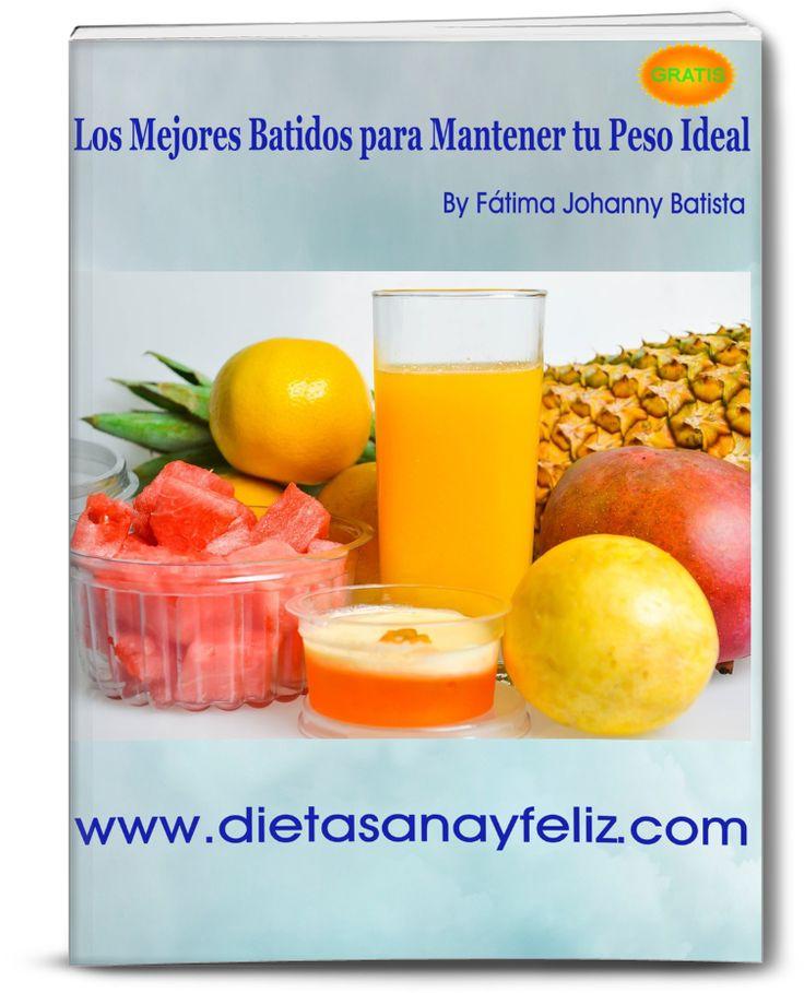 Descarga el Ebook Gratis Los Mejores Batidos para Mantener tu Peso Ideal. Desde el blog www.dietasanayfeliz.com