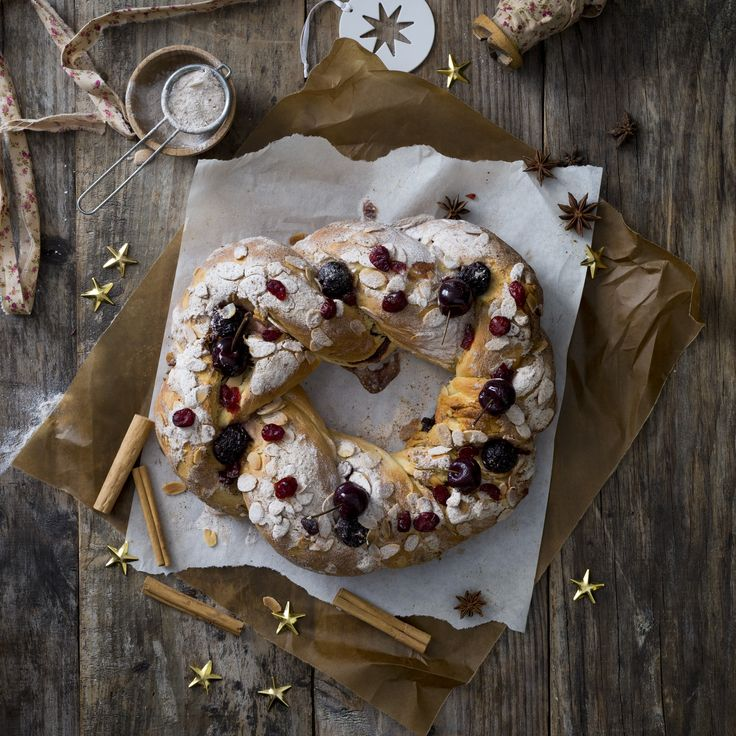 Spiced cherry brioche wreath  | Thermomix Festive Flavour Cookbook and Recipe Chip | Christmas and Entertaining Recipes