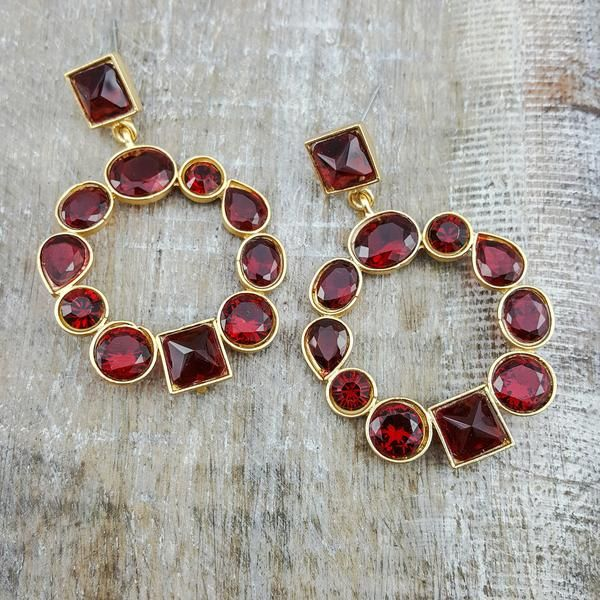 Ajita (Ruby red) - A piece made for traditional stylish girls with a pop of ruby red!