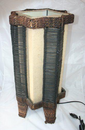 Lampada Ottagonale in Abaca Naturale H.51 cm. Abat jour da terra o da tavolo in carta naturale. By C&C Creations Store