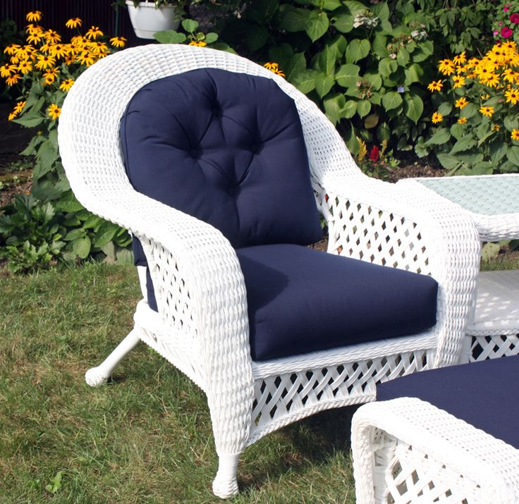 White Outdoor Wicker Chair #white #wicker #furniture Pinned by wickerparadise.com