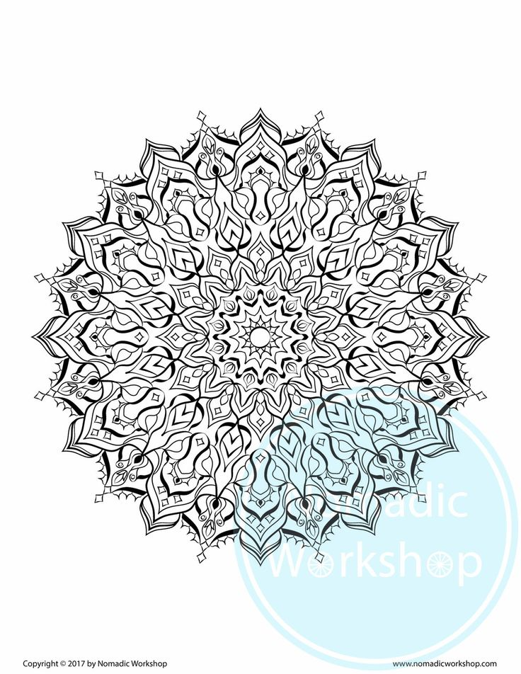 63 best Coloring Page for Adults images on Pinterest   Mandalas ...
