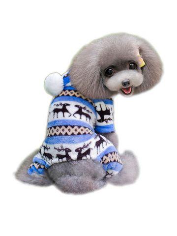 Adorable Hoodies Coral Fleece Four Legs Design Dog Clothes