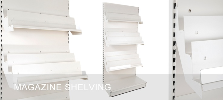 Magazine Shelving Units - with adjustable tilting shelves, suitable for magazines, newspapers, books, cards and paper goods