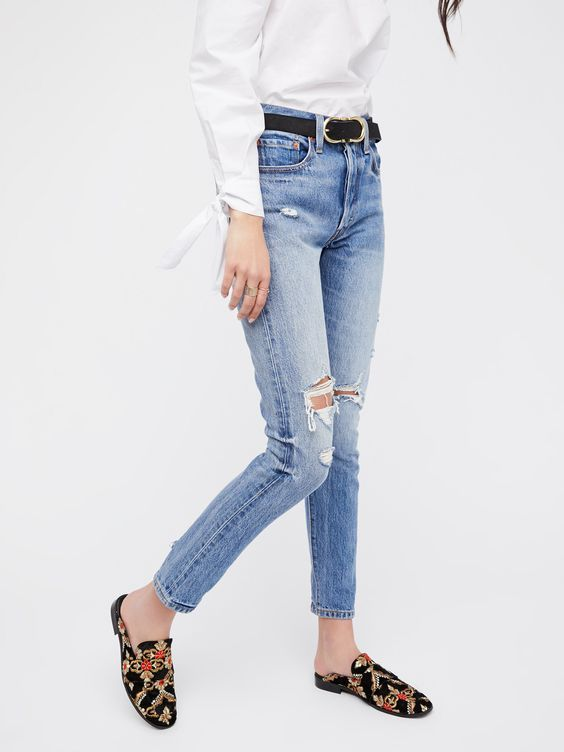 35ae46839f8 Levi`s 501 Womens Skinny Jean Blue blue, straight jeans, women, ripped jeans,  distressed jeans, destroyed skinny jeans, skinny jeans and levi skinny jeans