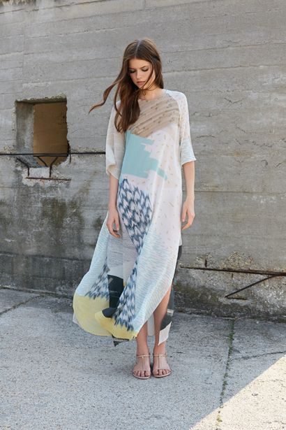 LONG SILK BREEZE DRESS D038