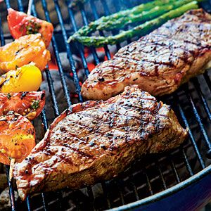 Our Ultimate Grillied Peppercorn-crusted Strip Steaks with Seasoned ...