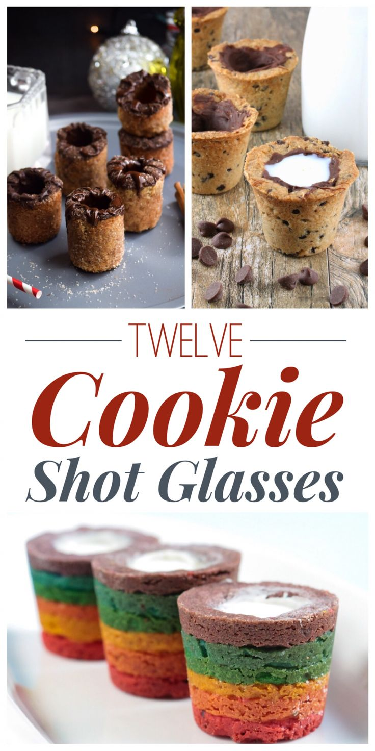 12 Cookie Shot Glasses
