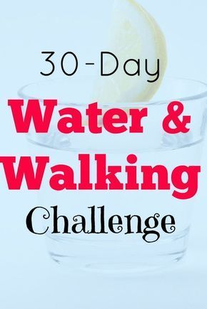 water and walking challenge - Improve your health and lose weight. I've includes a 30-day printable tracker to help you complete the challenge. Enjoy.