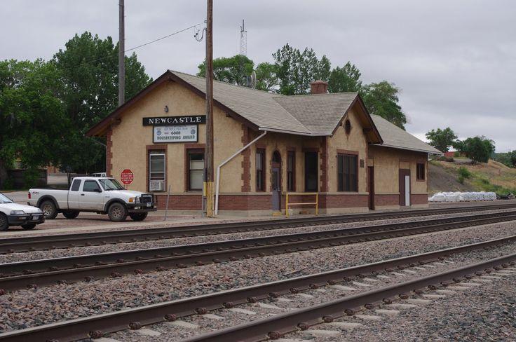 Railhead: Newcastle Train Station, Newcastle Wyoming.