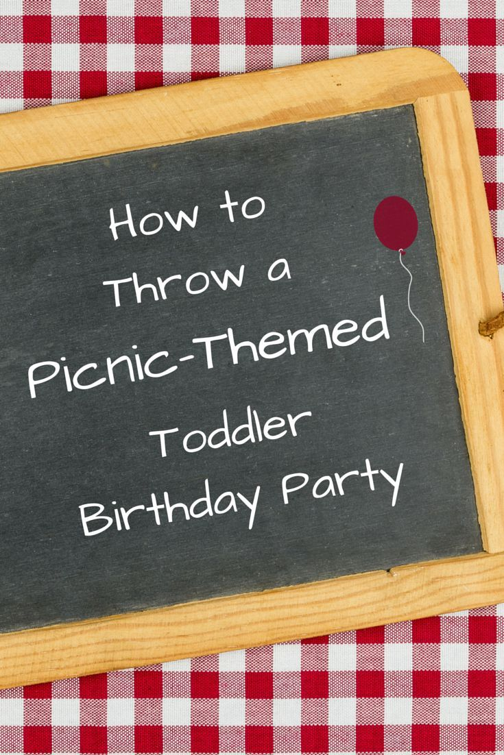 A simple birthday party theme idea for toddlers and little kids. Adorable picnic-themed invitations,  fun park activities, party favors, picnic food and decorations.