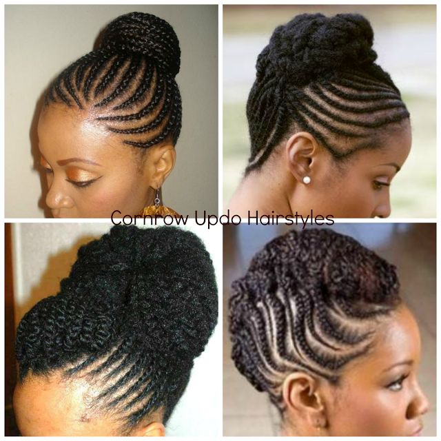 Rockin' it Napptural-: Natural Hair Cornrow Updos: One of the Dopest Protective Styles Ever
