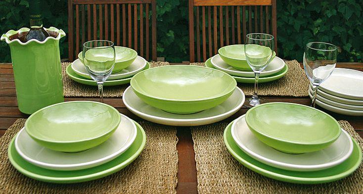 Servicios de mesa - Fabricación y venta de cerámica de elaboración propia - Vilà Clara Ceramistes