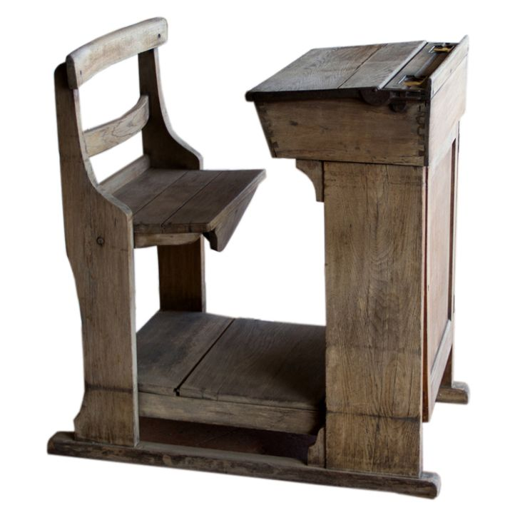 Rare Victorian oak school teacher's desk with 2 brass ink wells, with a cupboard on the front. Beautifully made with dovetailed joints.    ****