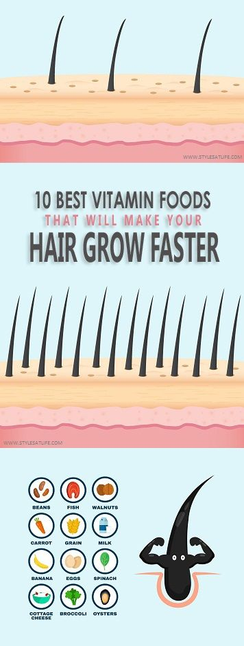 10 Best Vitamin Foods That Will Make Your Hair Grow Faster