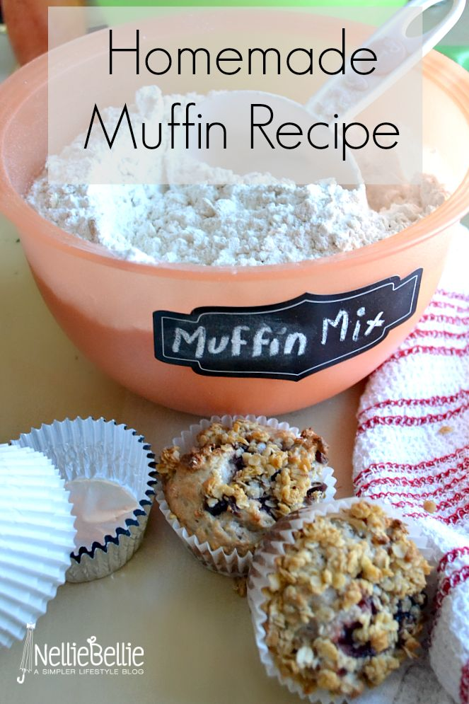 Homemade muffin mix: muffin base to make multiple different kinds of muffins! Simply add the wet ingredients!